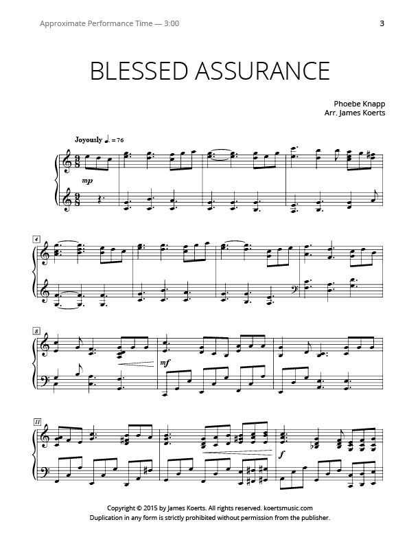 Harmonica Tabs Blessed Assurance