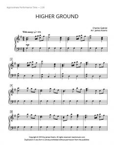 Sheet music for higher ground hymn