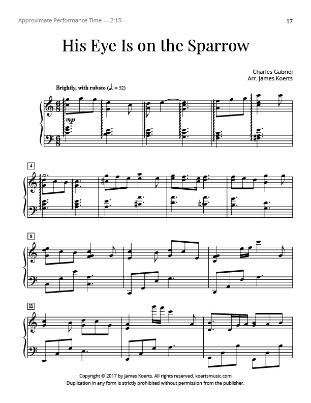 All Music Chords his eye is on the sparrow music sheet : GG1-hiseye.jpg