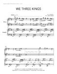 We Three Kings (piano duet)