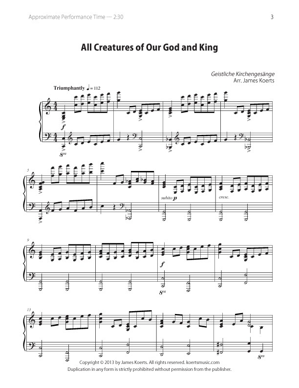 All Creatures of Our God and King – digital download