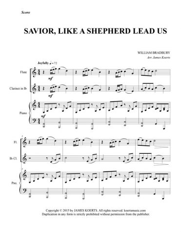 Savior Like a Shepherd Lead Us – Woodwind Duet