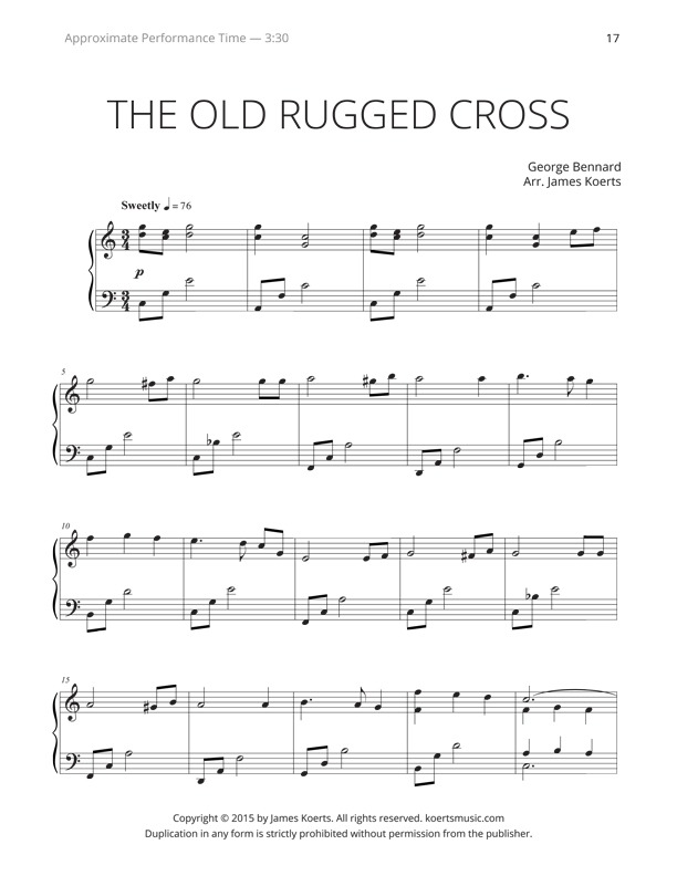 The Old Rugged Cross By James Koerts Level Late Intermediate