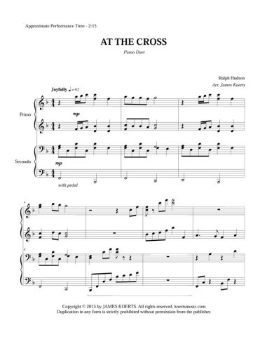 At the Cross – Piano Duet