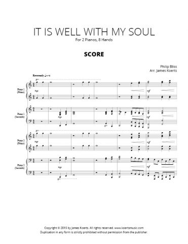 It Is Well with My Soul – 2 piano, 8 hands