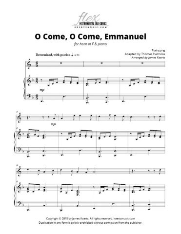 O Come, O Come, Emmanuel (horn in F)