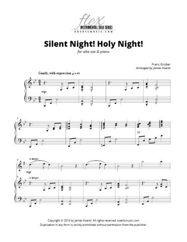 Silent Night! Holy Night! (alto sax)
