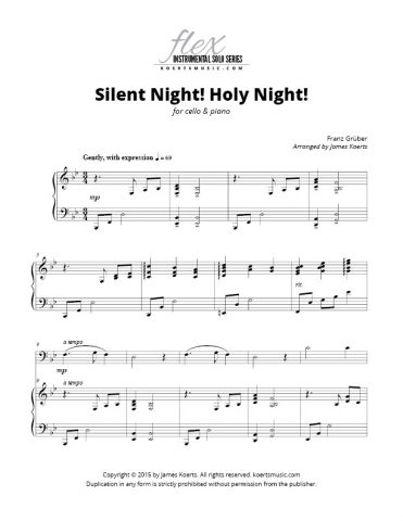 Silent Night! Holy Night! (cello)