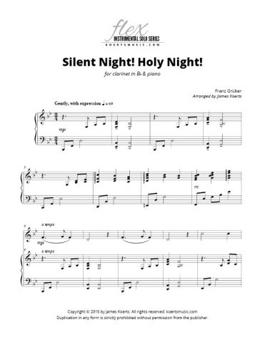 Silent Night! Holy Night! (clarinet)