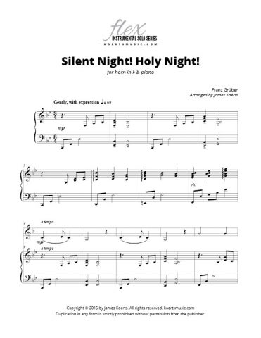 Silent Night! Holy Night! (horn in F)