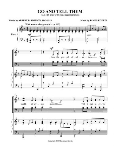 Go and Tell Them (SATB)