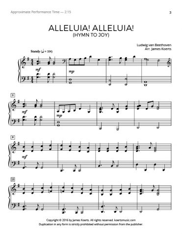 Alleluia! Alleluia! (Ode to Joy)