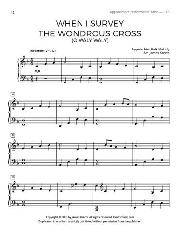 When I Survey the Wondrous Cross (O Waly Waly)