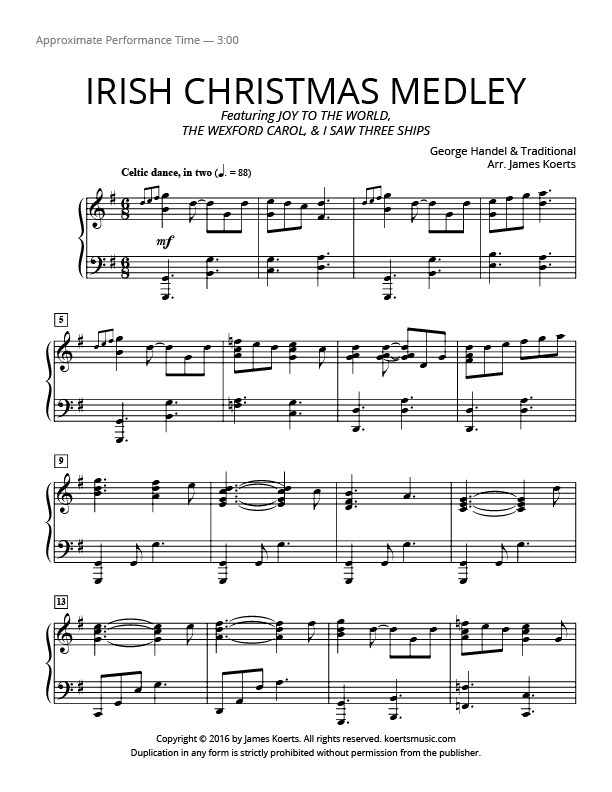 Irish Christmas Medley