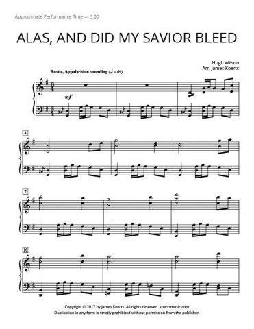 Alas, and Did My Savior Bleed