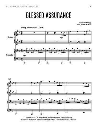 Blessed Assurance – Piano Duet