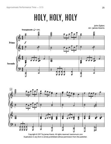 Holy, Holy, Holy – Piano Duet