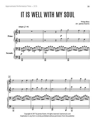 It Is Well with My Soul – Piano Duet