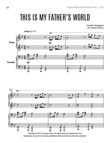 This Is My Father's World – Piano Duet