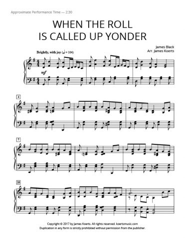 When the Roll Is Called Up Yonder