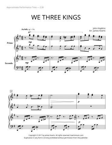 We Three Kings (piano duet)