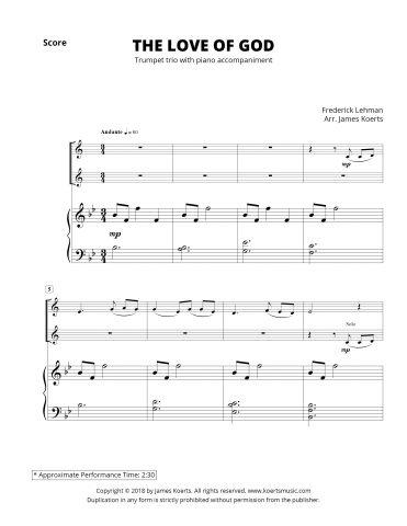 The Love of God — Trumpet Trio