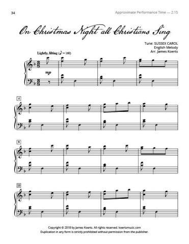 On Christmas Night All Christians Sing