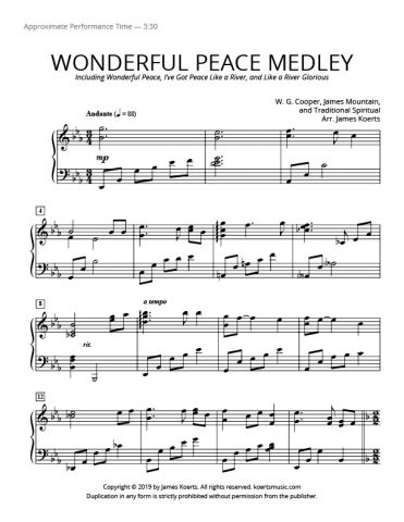 Wonderful Peace Medley