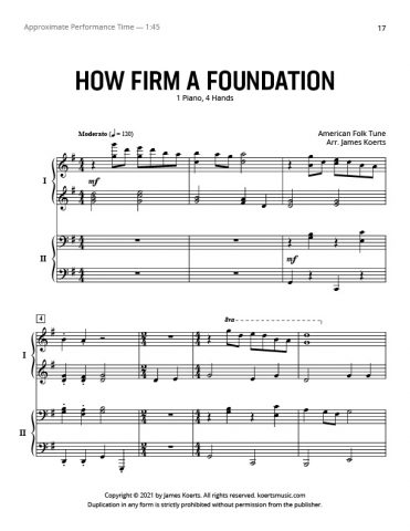 How Firm a Foundation – Piano Duet